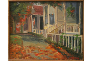Oil Painting of Old Houses by Alletzhauser