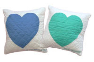 """Baby Heart"" Pillows. 100% cotton."