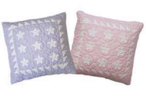 """Mini 9 Star"" Pillows. 100% cotton."