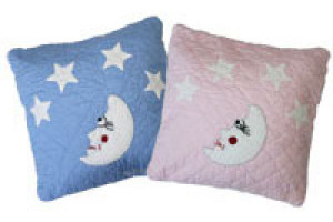 """Mr. Moon"" Pillows. 100% cotton."