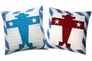 """Multi Planes"" Pillows. 100% cotton."