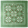 """Feathered Star"" in Sage-Red-White"